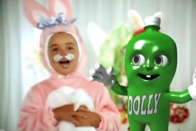 Propaganda de Páscoa da 'Dolly', veiculada na TV e internet