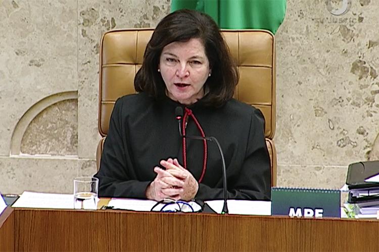 A procuradora-geral da República, Raquel Dodge, discursa durante sessão do STF, que julga o habeas corpus preventivo do ex-presidente Lula - 22/03/2018
