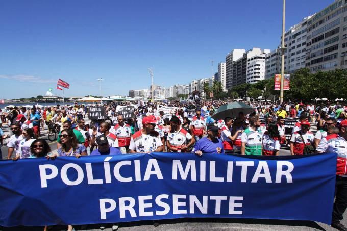 Protesto na Orla de Copacabana