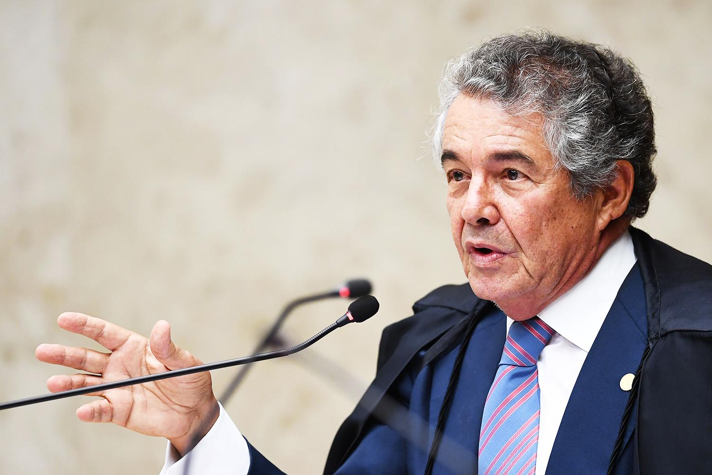 O ministro do STF, Marco Aurélio Mello, durante sessão em Brasília (DF) - 21/03/2018