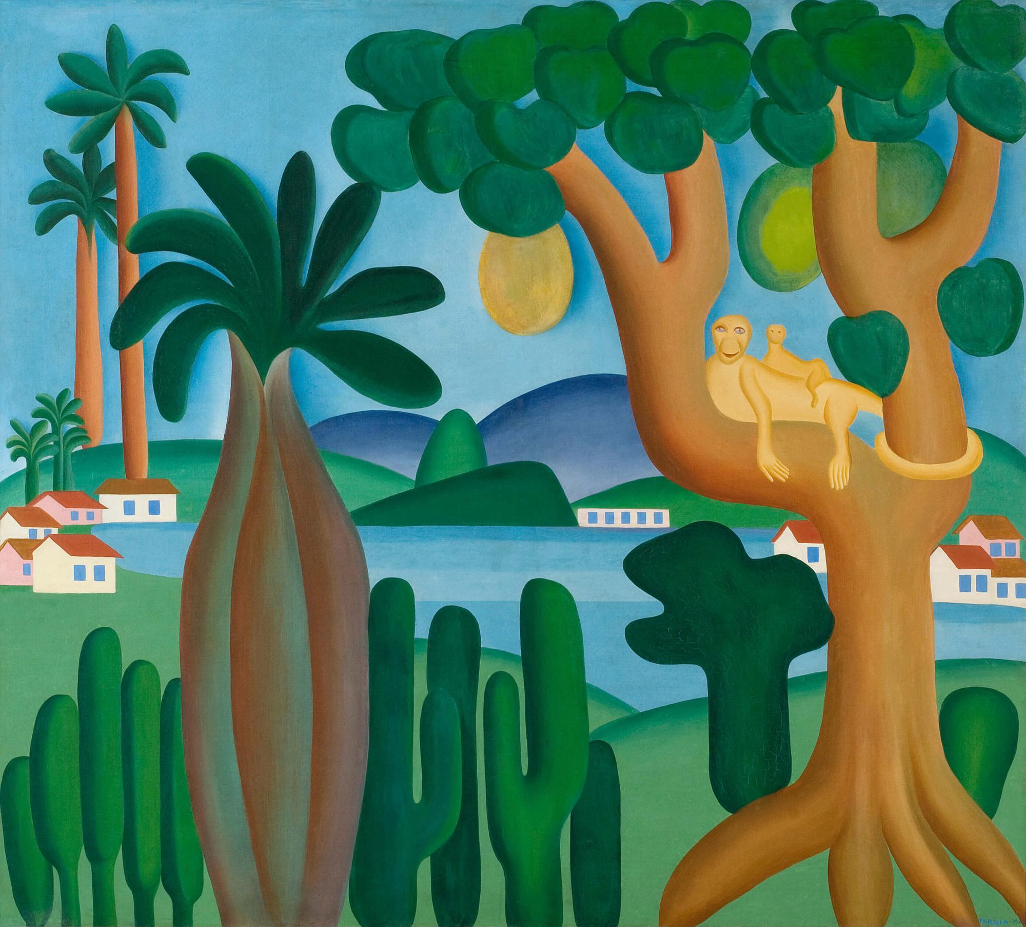 'Cartão postal', de Tarsila do Amaral (1929)