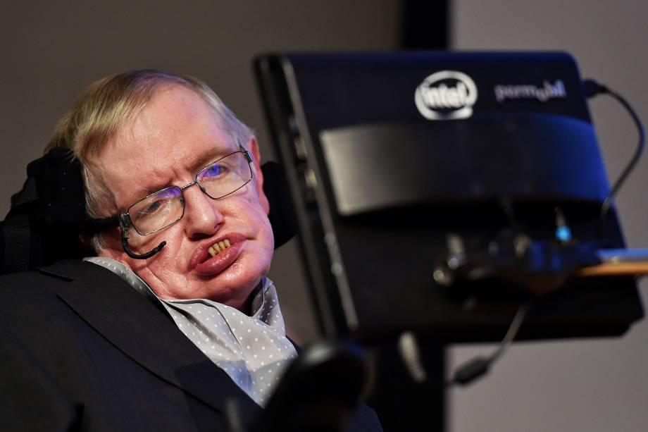 O físico britânico Stephen Hawking - 16/12/2015