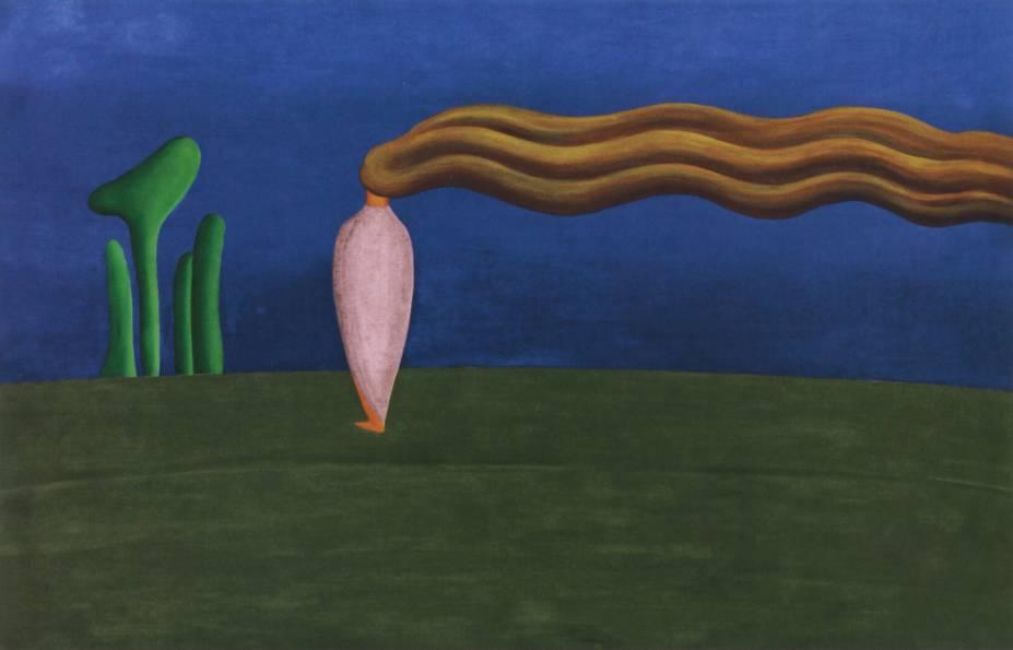'Composição (Figura só)', de Tarsila do Amaral (1930)