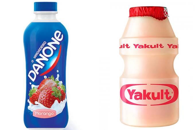 Produtos da Danone e Yakult