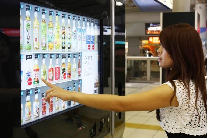 Máquina de bebidas no Japão