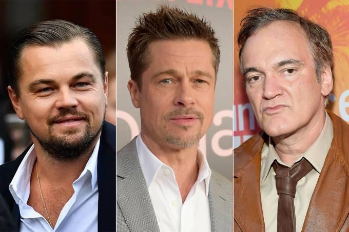 Leonardo DiCaprio, Brad Pitt e Quentin Tarantino