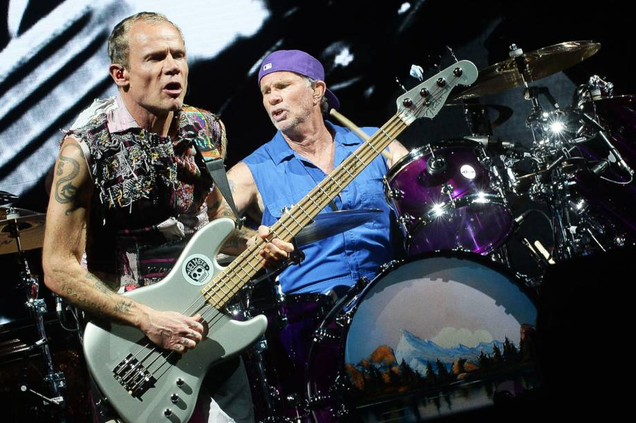 A banda Red Hot Chili Peppers fecha a primeira noite de shows do Lollapalooza 2018, no Autódromo de Interlagos - 23/03/2018