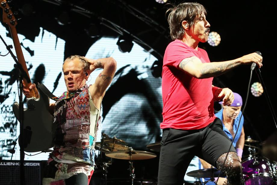 A banda Red Hot Chili Peppers fecha a primeira noite de shows do Lollapalooza 2018, realizado no Autódromo de Interlagos, zona sul da capital paulista - 23/03/2018