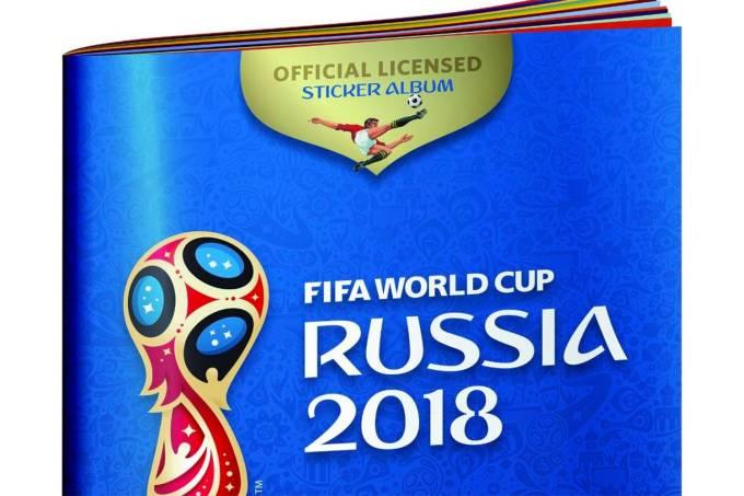 Album de figurinhas da Copa do Mundo 2018 na Rússia
