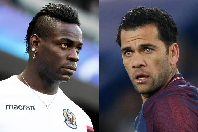 Balotelli e Daniel Alves