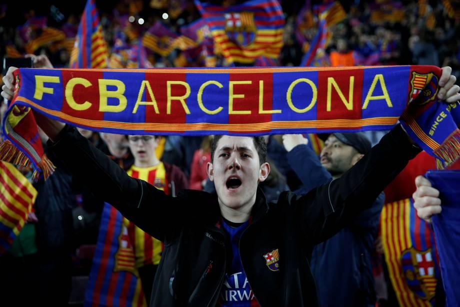 FC Barcelona vs Chelsea no Camp Nou em  Barcelona, Spain - 14/03/2018