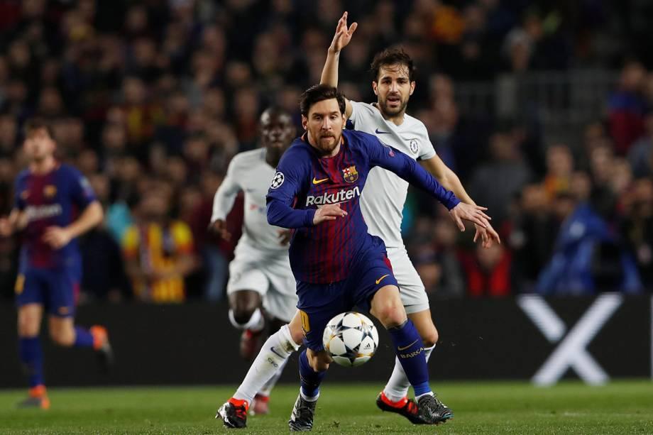 Lionel Messi, jogador do Barcelona, em ação  - 14/03/2018