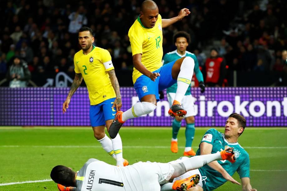 Amistoso entre Brasil e Alemanha, realizado no Estádio Olímpico de Berlim - 27/03/2018