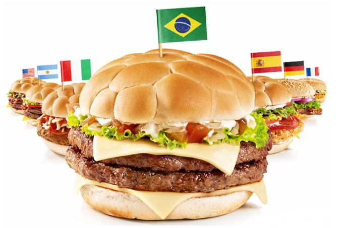 Sanduíches do McDonald's na Copa do Mundo de 2014
