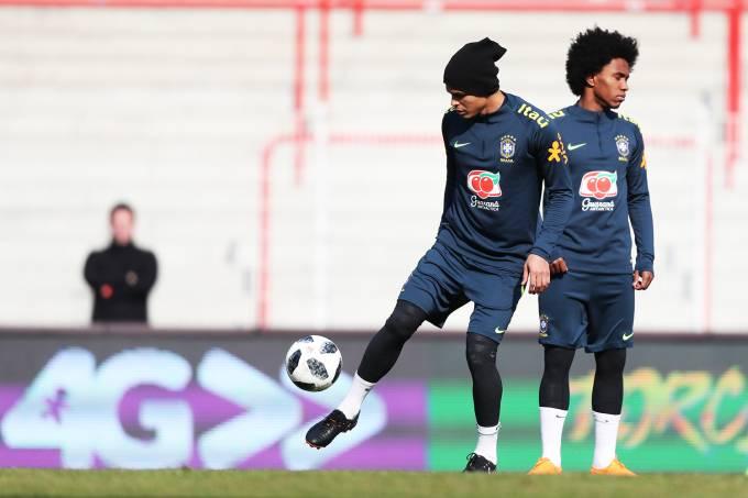 Treino da Seleção Brasileira – Thiago Silva
