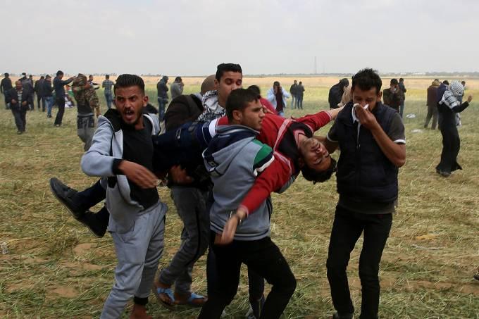 Conflito entre palestinos e israelenses na Faixa de Gaza