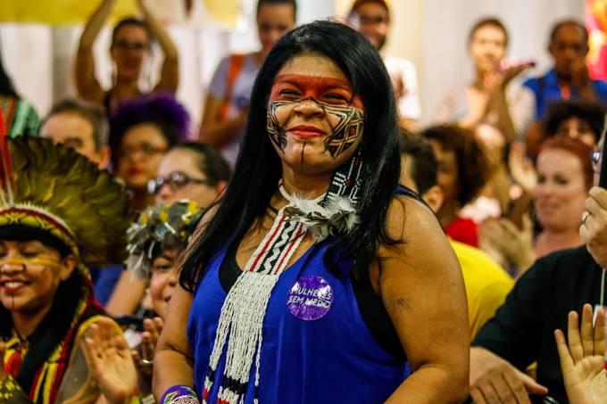 Sônia Guajajara, pré-candidata do PSOL a vice-presidente da República