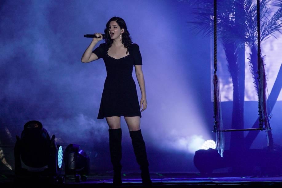 A cantora Lana Del Rey se apresenta no último dia do Lollapalooza 2018, em São Paulo