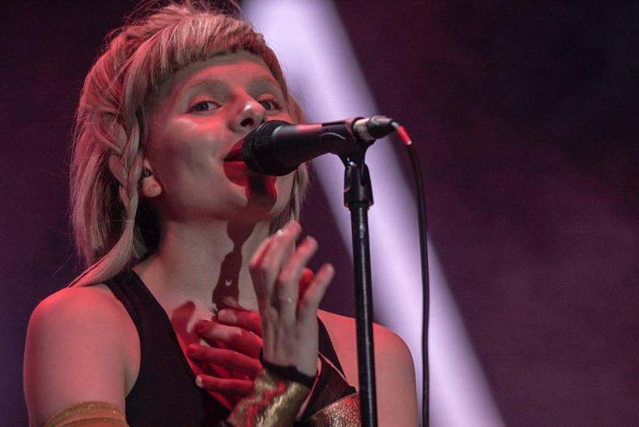 Show da cantora Aurora no último dia do Festival Lollapalooza 2018, em São Paulo