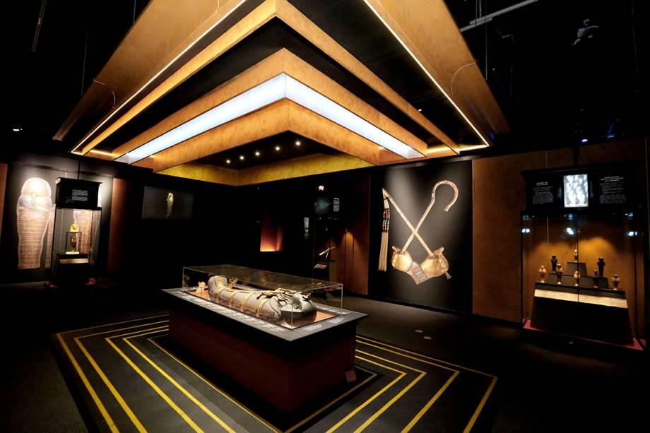 Prévia da exposição King Tut: Tesouros do faraó dourado em Los Angeles - 21/03/2018