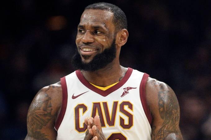 LeBron James, do Cleveland Cavaliers, na partida contra o New Orleans Pelicans