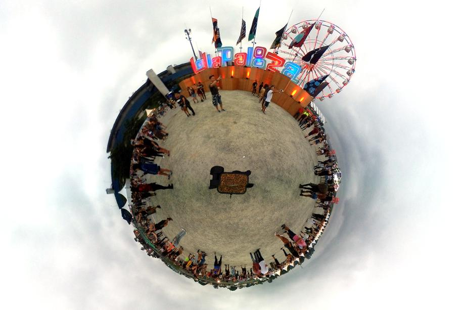 Visão micro mundo do Lollapalooza 2018 - Imagem captada com o SamSung Gear 360
