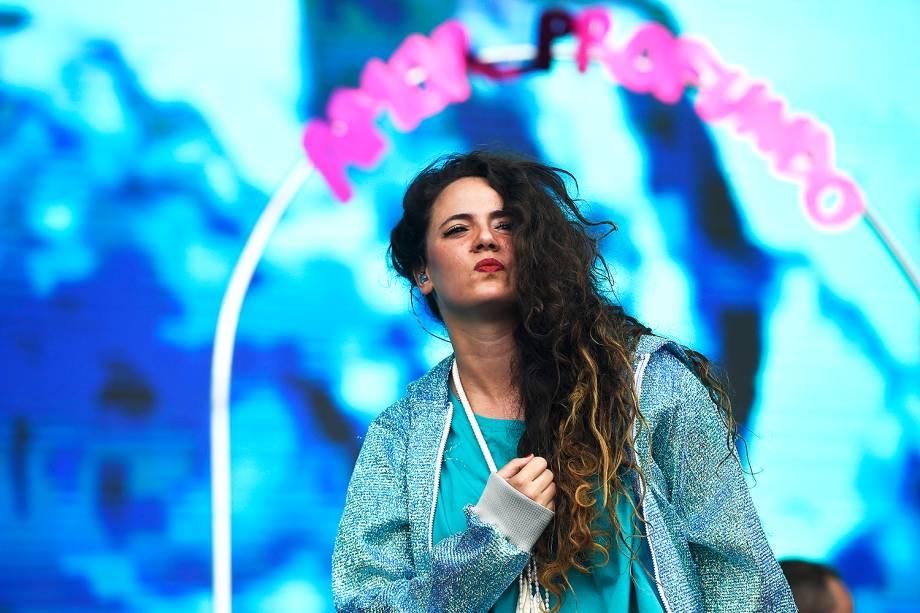 Show da cantora Tiê no último dia do Lollapalooza 2018 - 25/03/2018