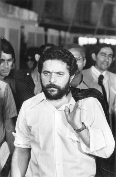 Luiz Inácio Lula da Silva, presidente do Sindicato dos Metalúrgicos de São Bernardo do Campo e Diadema, no Congresso Nacional dos Trabalhadores da Indústria, em 1978.