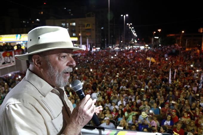 O ex-presidente Lula discursa em São Leopoldo, Rio Grande do Sul – 23/03/2018