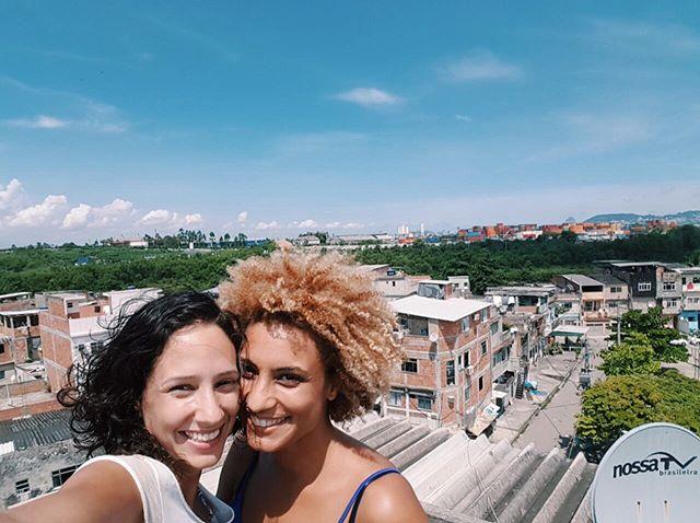 Marielle Franco e sua mulher Monica Benício