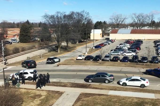 Local do tiroteio na Universidade Central de Michigan