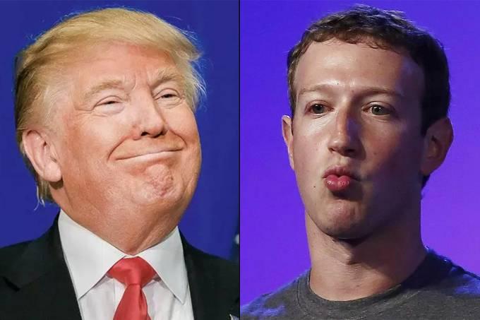 Donald Trump e Mark Zuckerberg