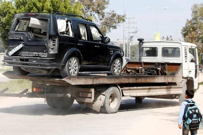 Explosões durante o comboio do primeiro-ministro palestino Rami Hamdallah