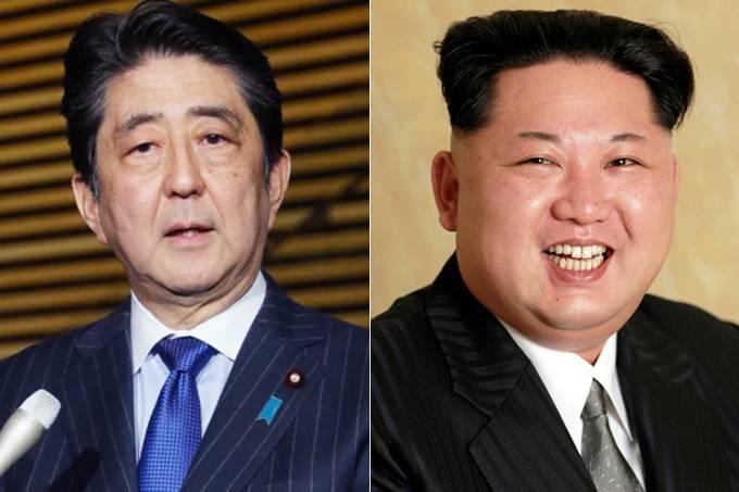 Shinzo Abe e Kim Jong-Un