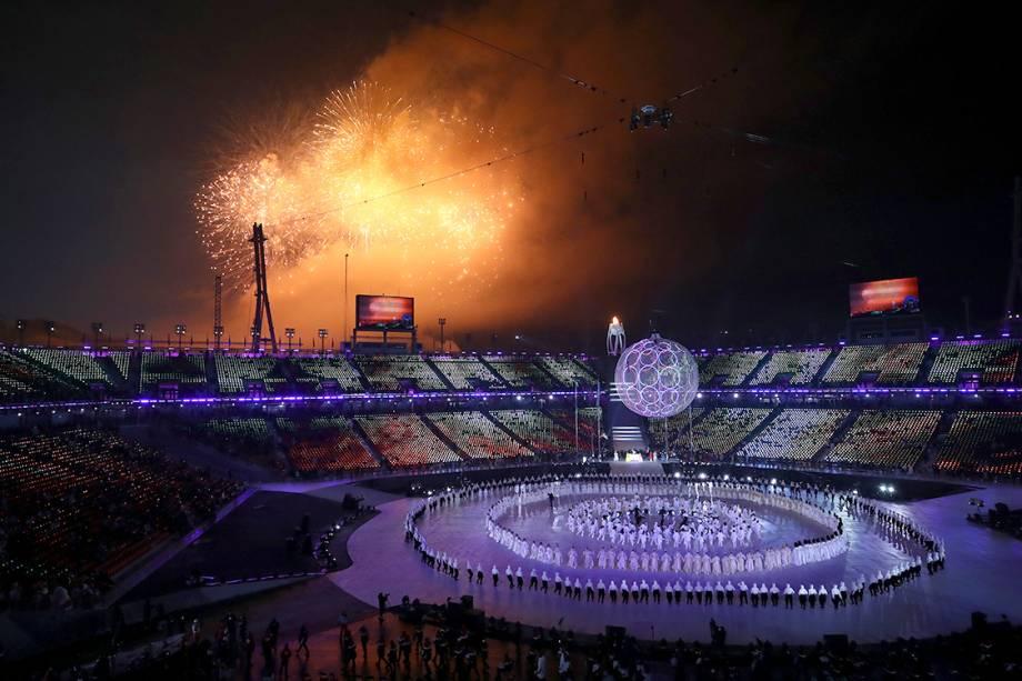 Abertura das Olimpíadas Paralímpicas de PyeongChang, na Coreia do Sul