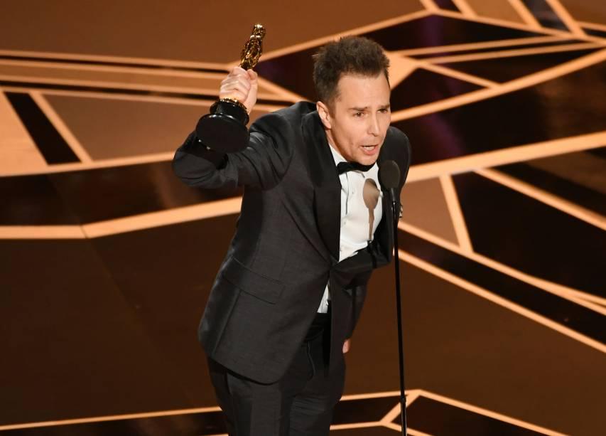 Sam Rockwell leva o Oscar de melhor ator coadjuvante