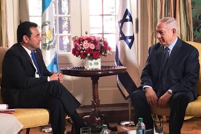 Jimmy Morales e Benjamin Netanyahu