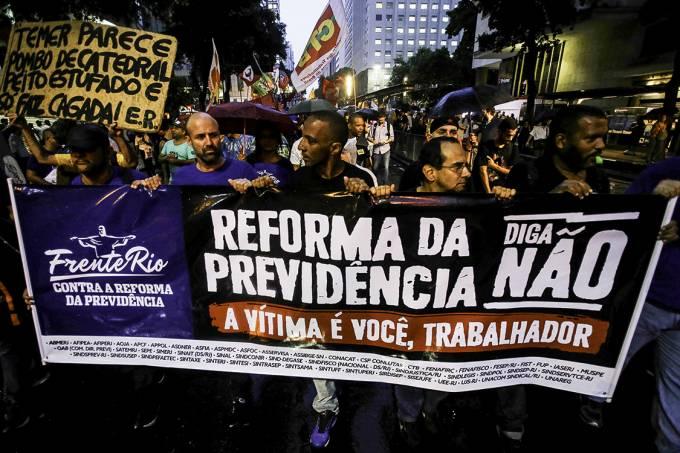 Ato Contra a Reforma da Previdência no RJ