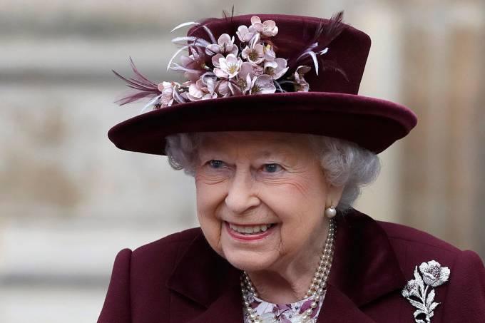 A rainha Elizabeth II durante celebração da Comunidade Britânica na Abadia de Westminster
