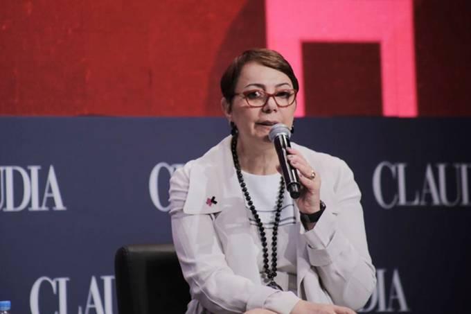 Tânia Cosentino, a presidente da Schneider Electric para a América do Sul, fala no Fórum Claudia
