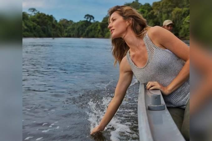 Gisele Bündchen na Amazônia