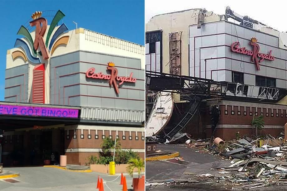 Antes e depois da passagem do furacão Irma