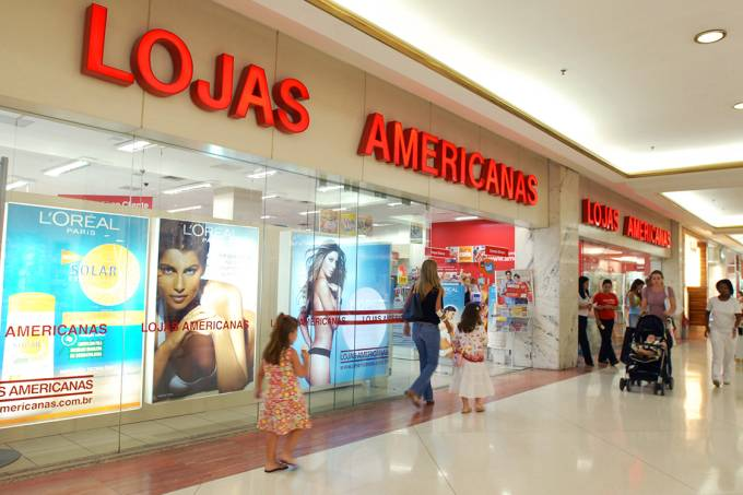 Vitrine da Lojas Americanas