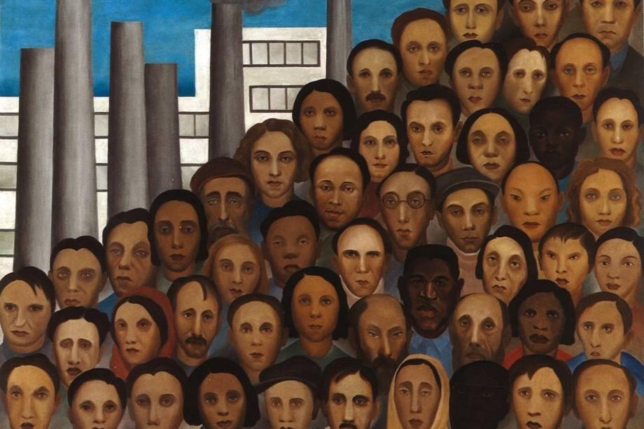 'Operários', de Tarsila do Amaral (1933)