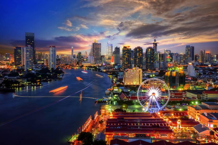 Vista de Bangkok, na Tailândia