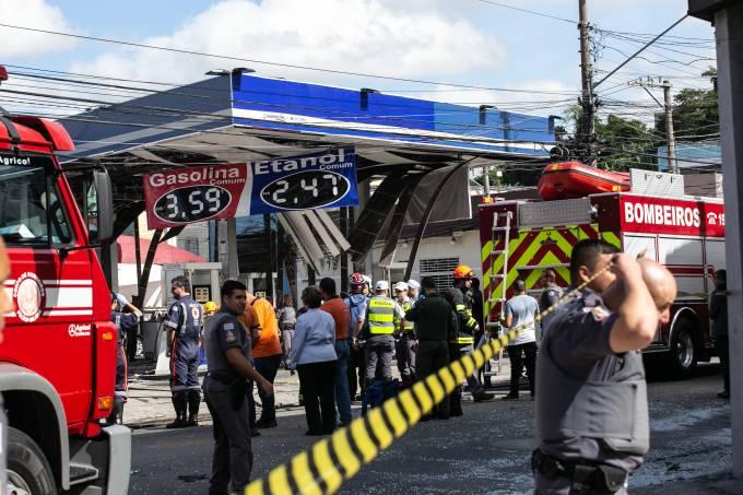 Explosão em posto de combustível na Zona Norte de SP