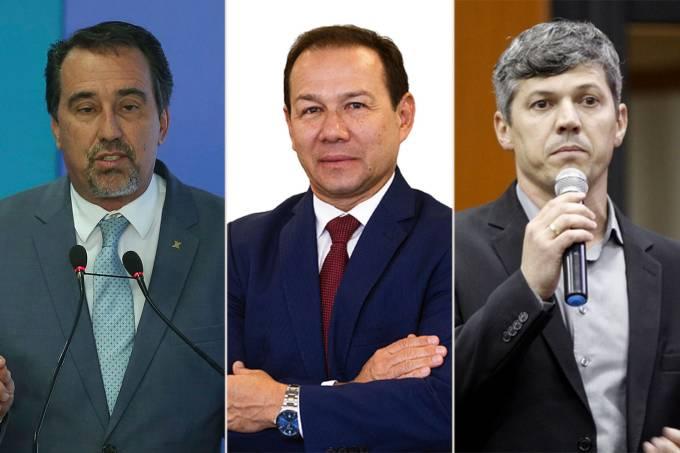 Gilberto Occhi, Nelson Antônio de Souza e Valter Casimiro