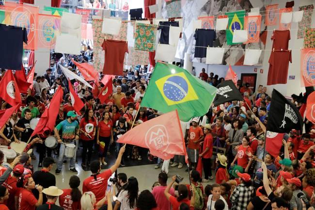 Apoiadores de Luis Inácio Lula da Silva