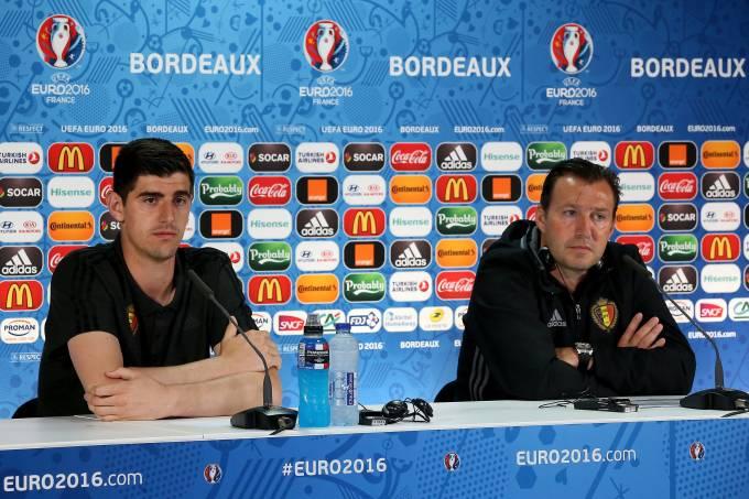 Thibaut Courtois  e Marc Wilmots