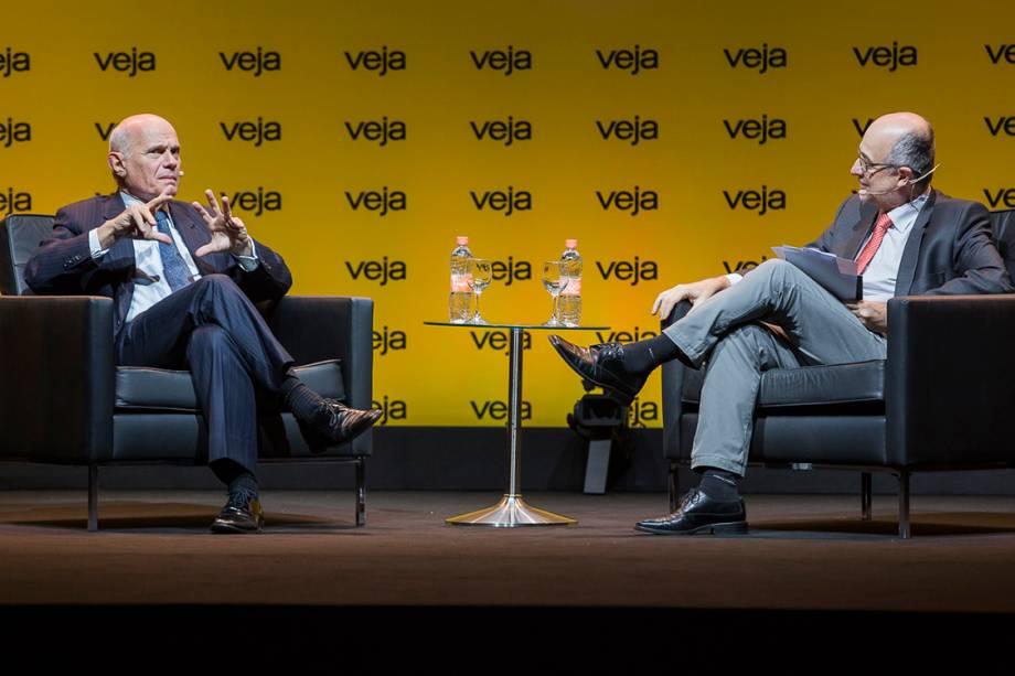 Ricardo Boechat foi entrevistado pelo redator-chefe de VEJA Fábio Altman - 24/04/2018